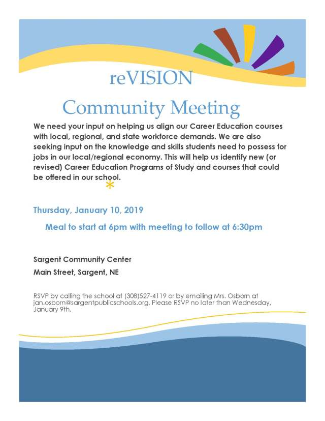 reVision Community Meeting Flyer